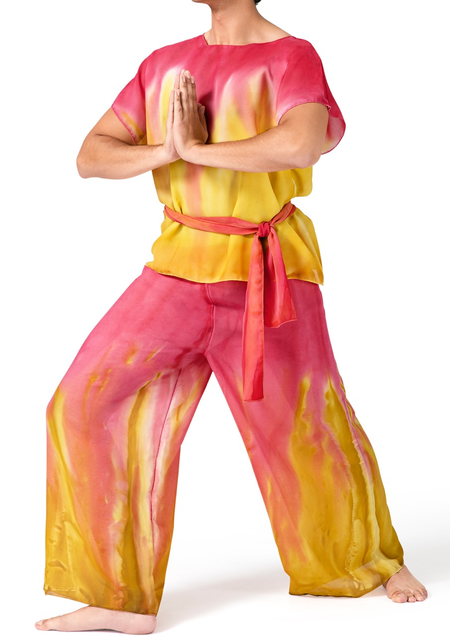 Watercolour Worship Short Sleeve Tunic With Sash Dancers
